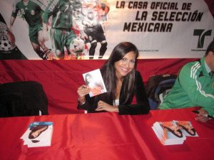 Jessie Camacho at Autograph signing event