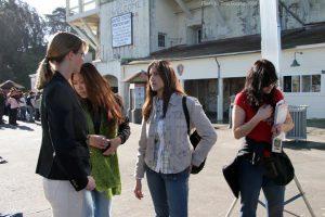 "Jessie Camacho on set in ""Curse of Alcatraz"""