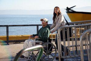 "Jessie Camacho on set in ""Curse of Alcatraz"" 2"