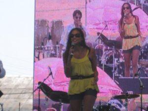 Jessie on stage at Cinco De Mayo & Exitos 93.9 FM event