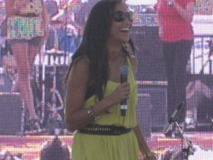 Jessie on stage at Cinco De Mayo