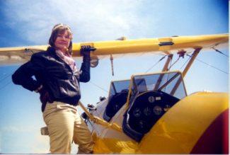 Roberta E. Bassin as Amelia Earhart
