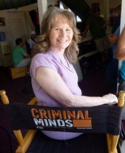 Roberta E. Bassin on set of Criminal Minds