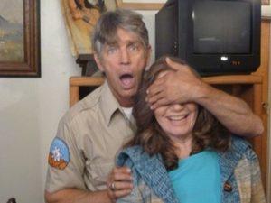 Roberta E. Bassin on set with Eric Roberts 2