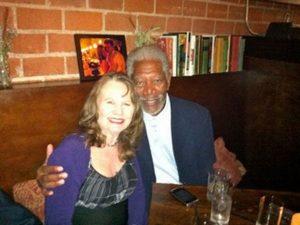 Roberta E. Bassin with Morgan Freeman