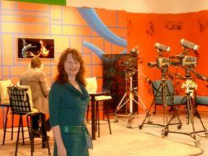 Roberta E. Bassin on set of News AM Arizona