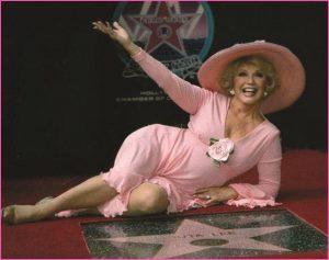 Ruta Lee walk of fame celebration