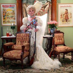 Ruta Lee in Western costume