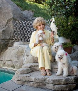 Ruta Lee with pets