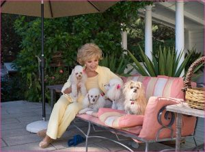 Ruta Lee with dogs